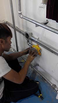 化学用品库天然气报警器安装案例